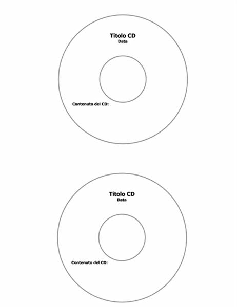 Etichette per CD (supporta Avery 5824)