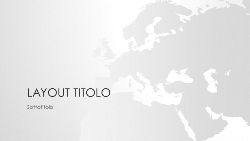 Serie Cartine del mondo, presentazione del continente europeo (widescreen)