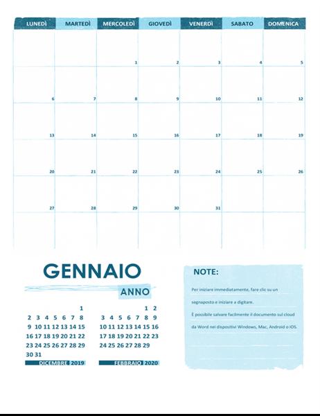 Calendario accademico L-DS (qualsiasi anno)