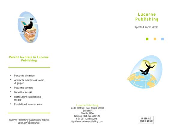 Brochure per ricerca di personale