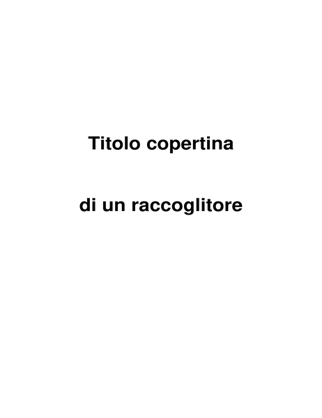 Copertina raccoglitore
