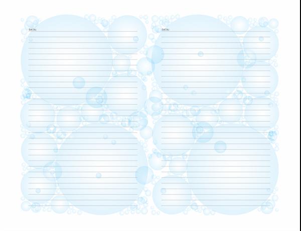 Pagine di diario (motivo bolle, orientamento orizzontale)