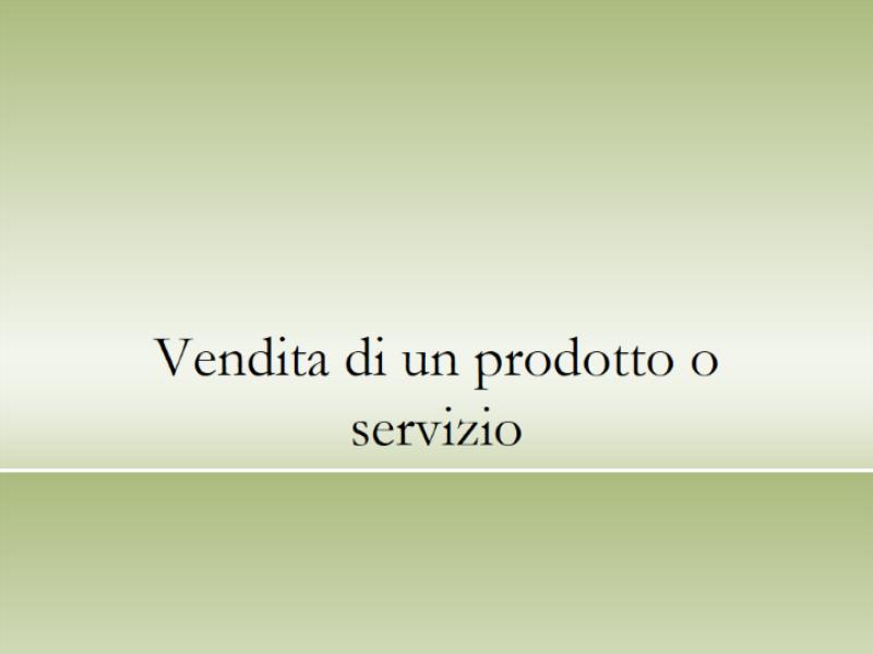 Presentazione di prodotti o servizi