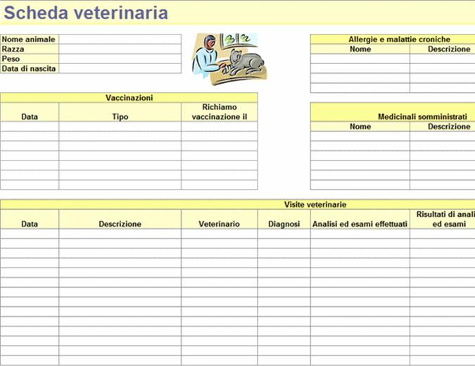 Scheda veterinaria