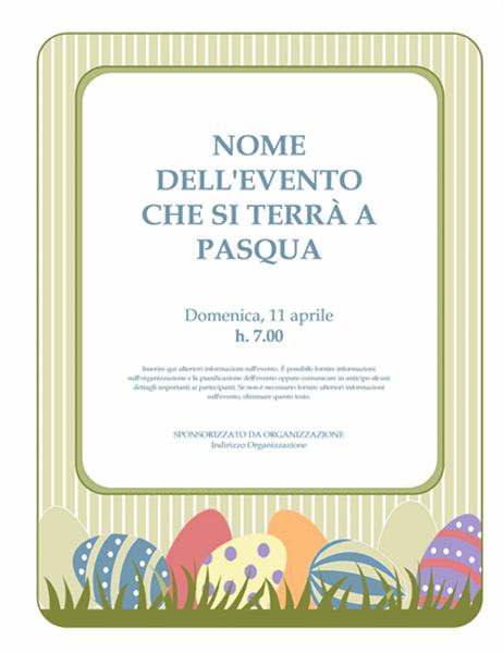 Volantino di Pasqua (con uova)