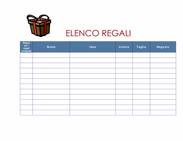 Elenco regali