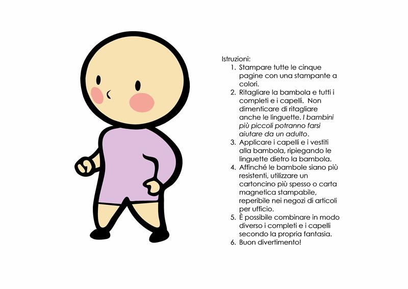 Bambole di carta (bambina, set 3)