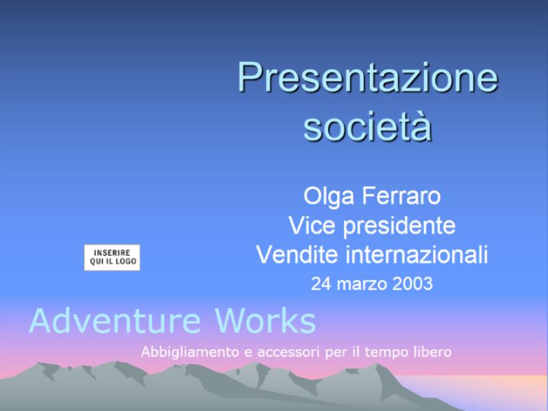 Presentazione Strategia società