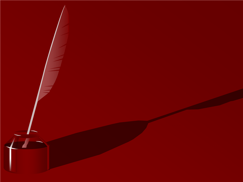 Modello struttura con penna d'oca