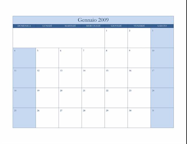 Calendario 2009 (tema blu classico)
