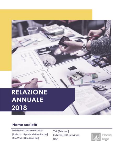 Relazione annuale (struttura Rosso e nero)