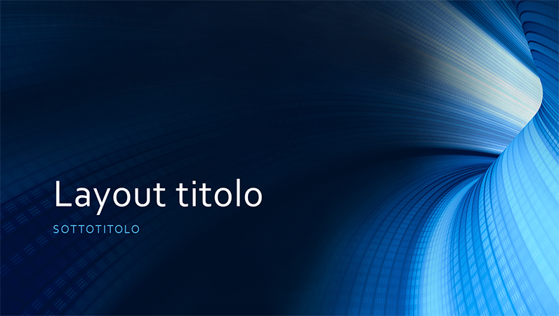 Presentazione professionale con tunnel blu (widescreen)