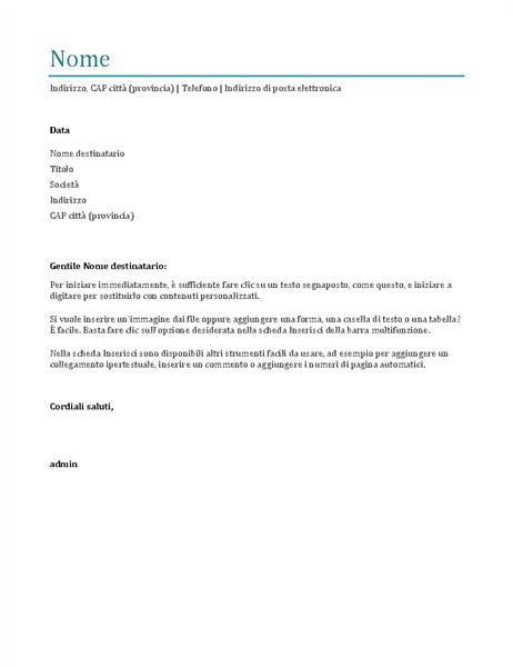 Lettera di presentazione (blu)
