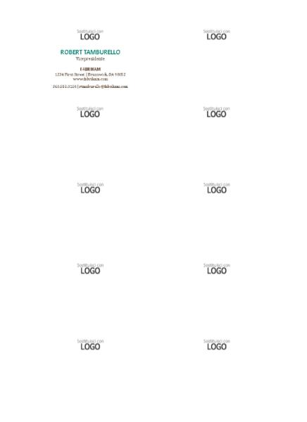 Biglietti da visita, layout orizzontale con logo, nome in maiuscolo