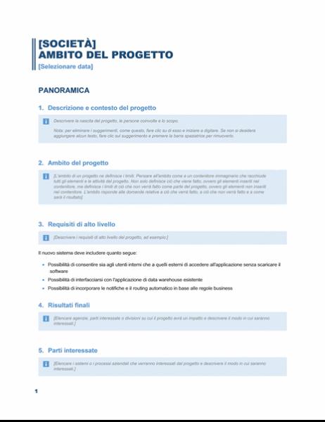 Obiettivi del progetto