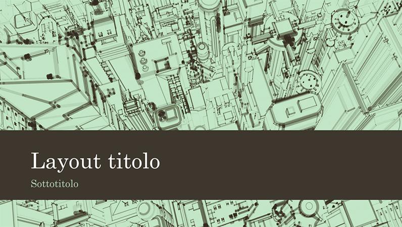 Presentazione aziendale con schizzo di città sullo sfondo (widescreen)