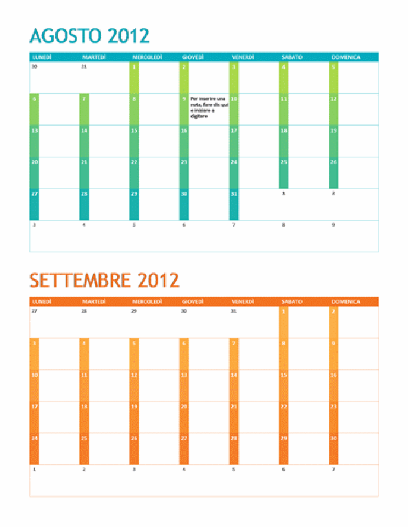 Calendario accademico (lun-dom)
