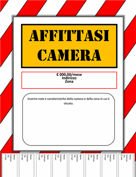 Cartello affittasi camera - Industrial background