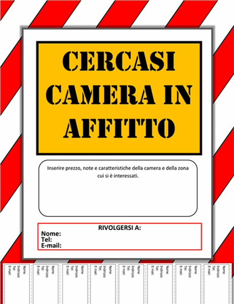 Cartello cercasi camera industrial background for Cercasi in regalo