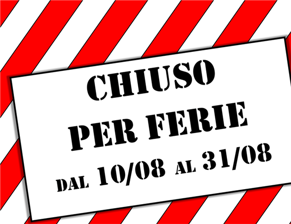 Cartello chiuso per ferie - Industrial background