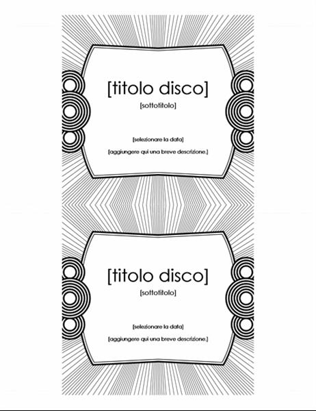 Etichetta per inserto CD