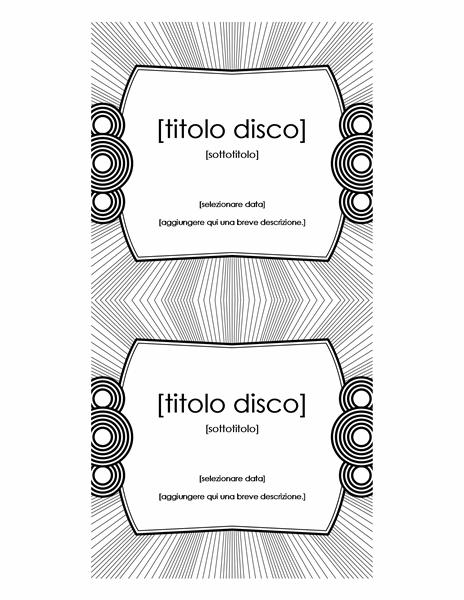 Etichetta per inserto CD (compatibile con Avery 5693)