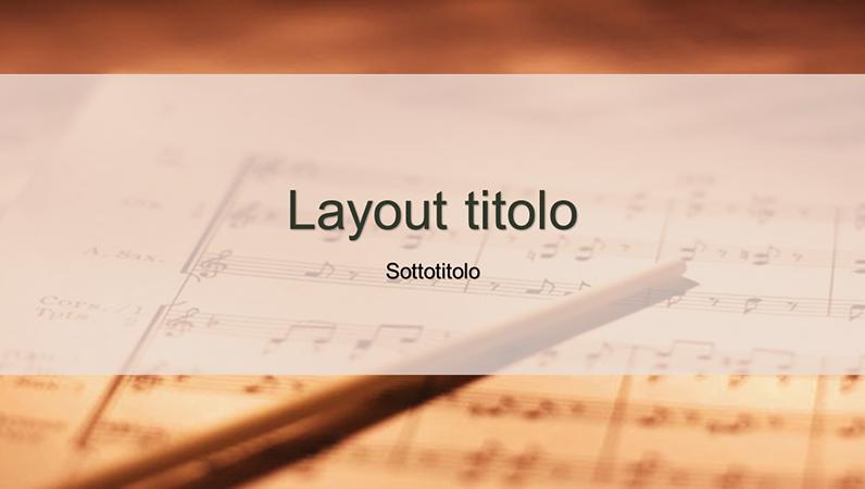 Diapositive con schema Spartito musicale