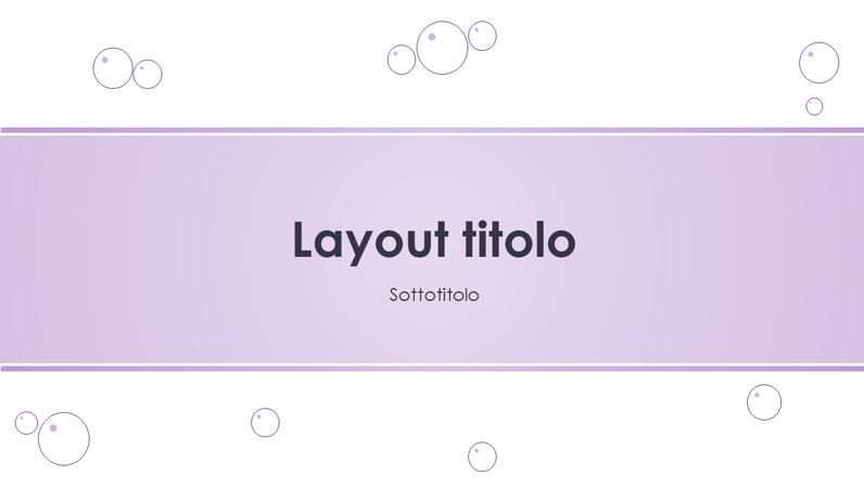 Diapositive con schema Bolle