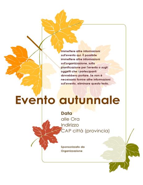 Volantino per evento autunnale (con foglie)