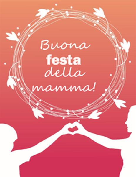 Biglietto per la festa della mamma (con papavero, piegato in quattro)