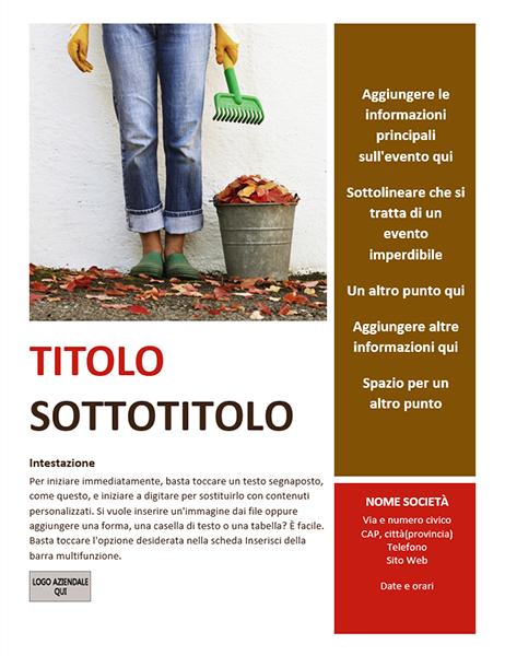 Volantino per evento stagionale (autunno)
