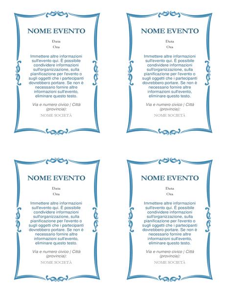 Inviti a eventi (4 per pagina)