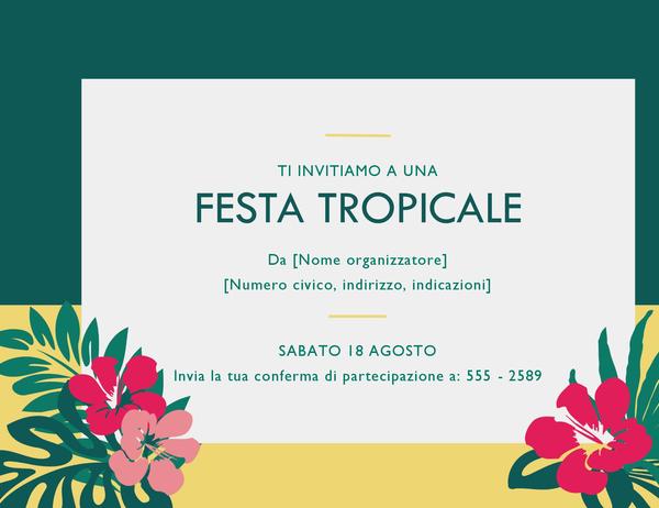 Invito a una festa (tropicale)