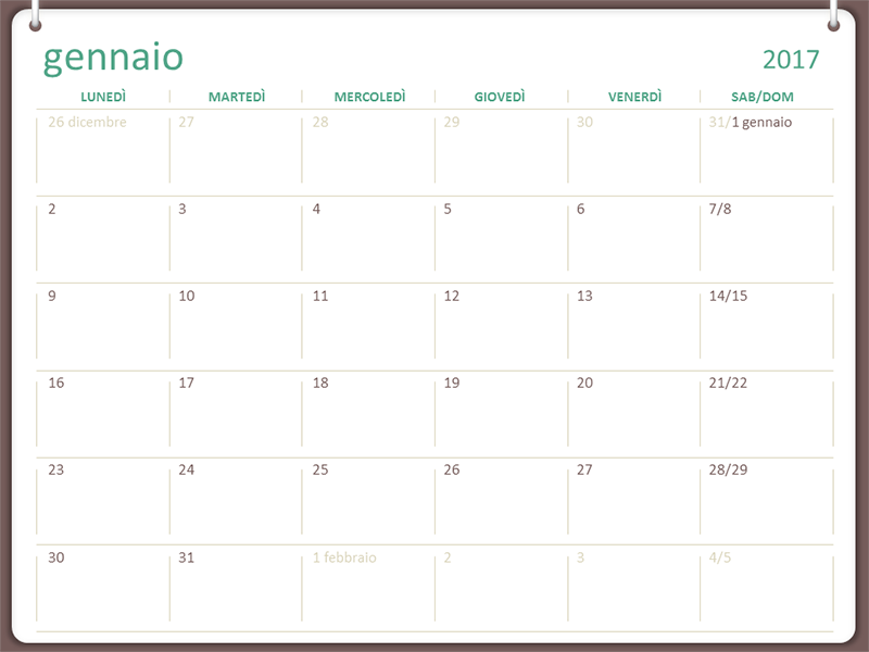Estremamente Calendari - Office.com ID75