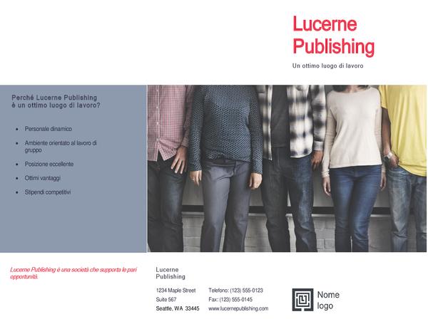 Brochure di selezione del personale per fiere