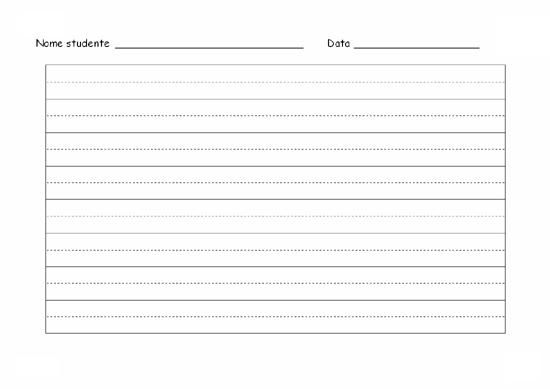Foglio di esercitazione per la scrittura a mano