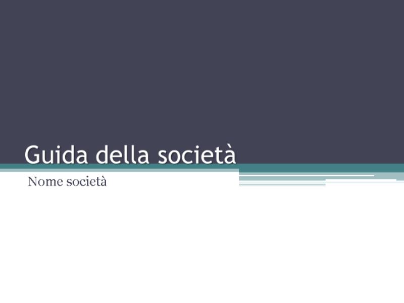 Guida della società