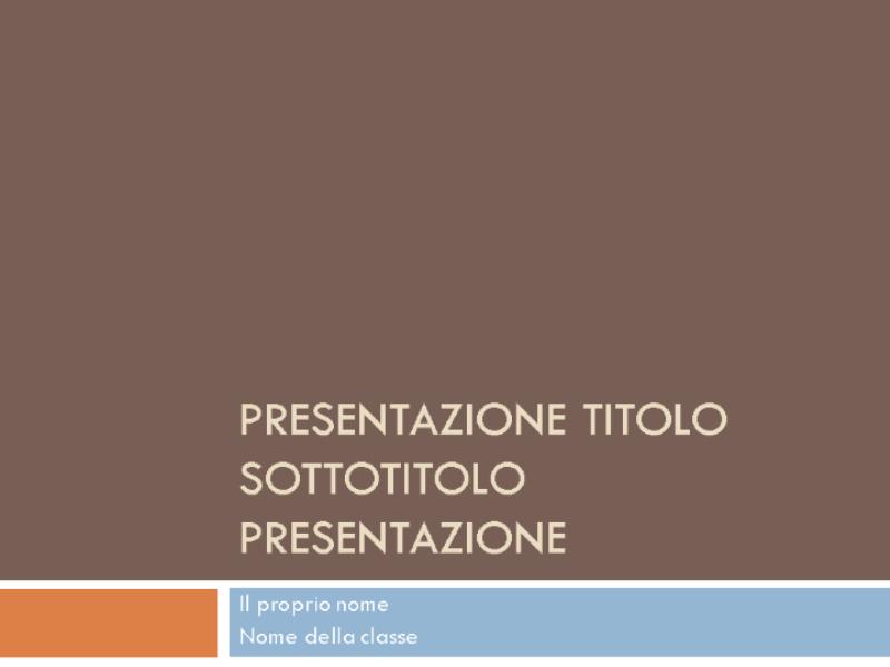Presentazione dello studente