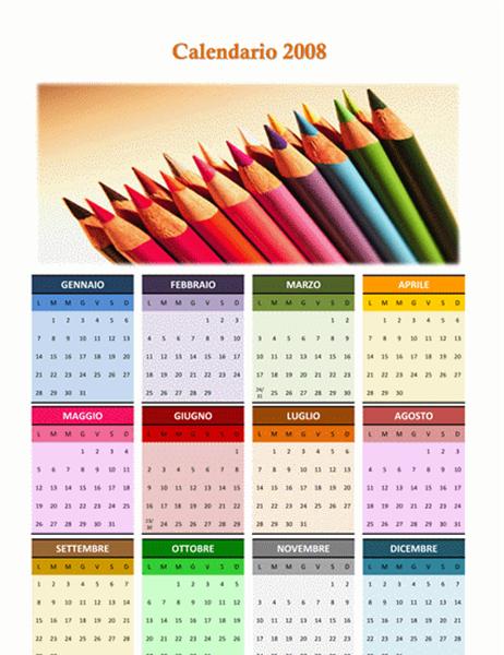 Calendario 2008 (A3 - colorato)