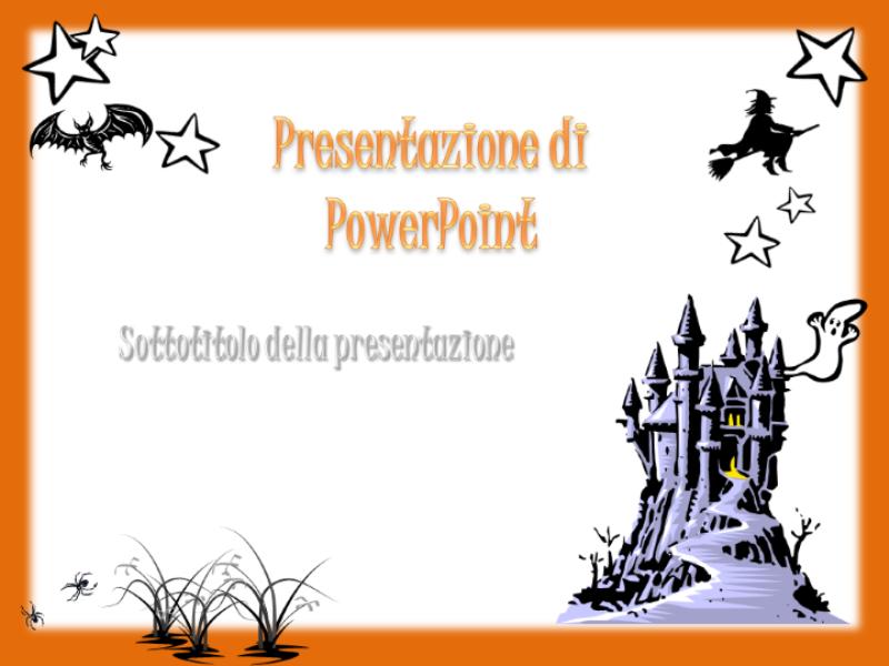 Modello struttura (tema Halloween)