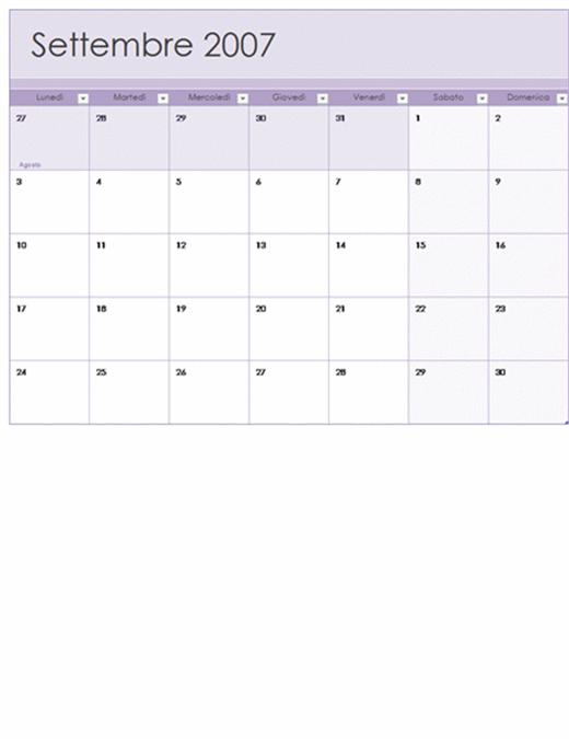 Calendario scolastico 2007-2008 (13 pagine, lun-dom)