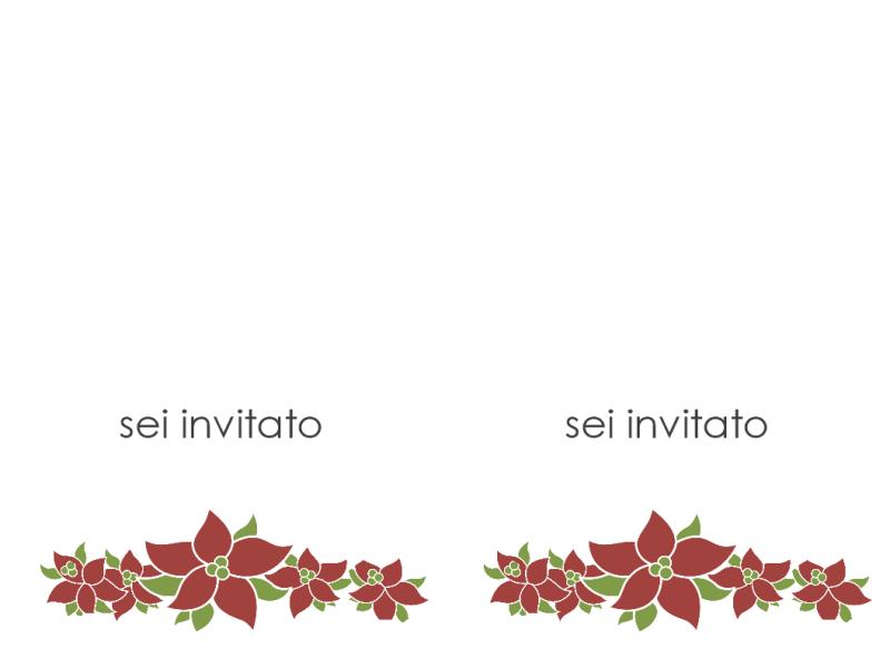 Invito a una festa (struttura stella di Natale)