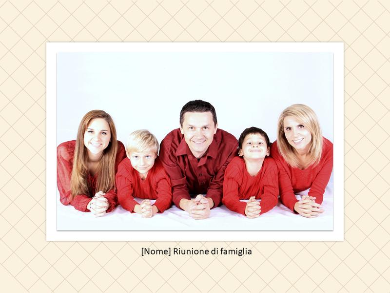 Album di foto per una riunione di famiglia