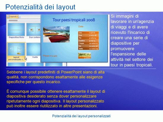 Presentazione di formazione: PowerPoint 2007 - Potenzialità dei layout personalizzati