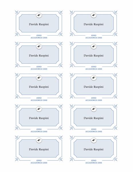 Targhette nome Laurea (struttura Formale)