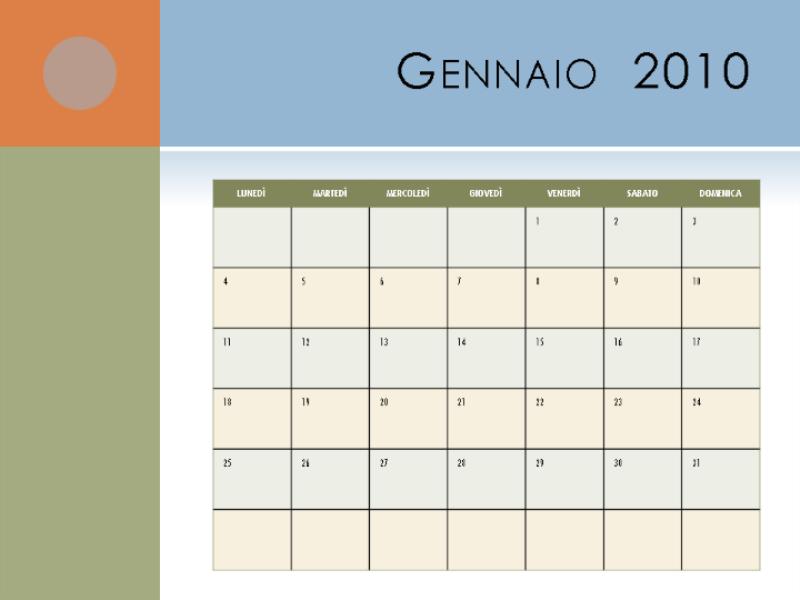 Calendario 2010 (lun-dom)