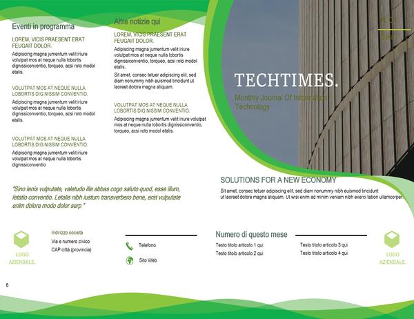 Newsletter (design Onde verdi)