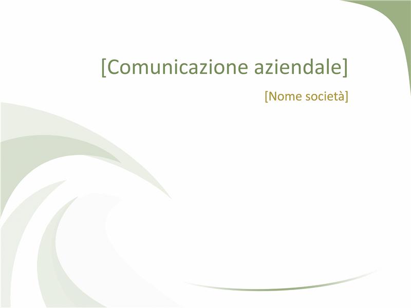 Diapositive con struttura Professionale (struttura Onda verde)