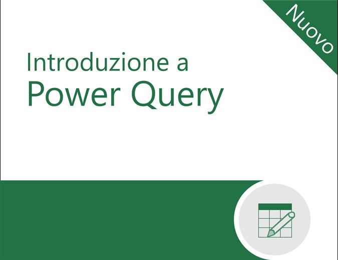 Esercitazione su Power Query