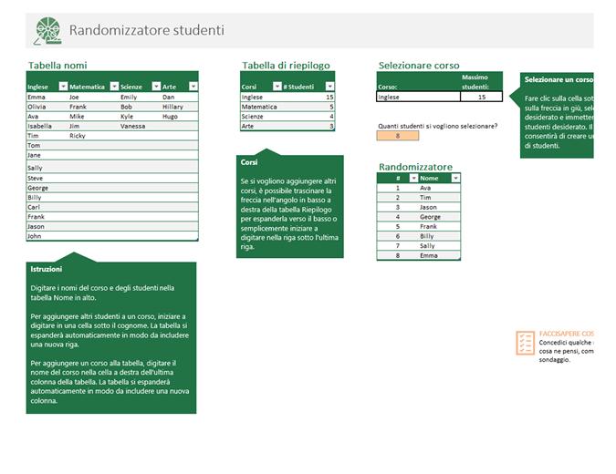 Randomizzatore studenti